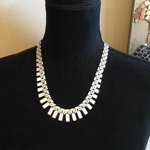 Premier Designs Silver and Rhinestone Necklace
